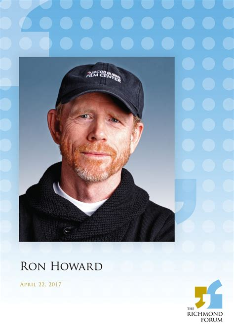 ron howard book ron howard at the richmond forum