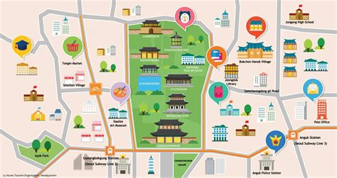seoul tourism map  travel information