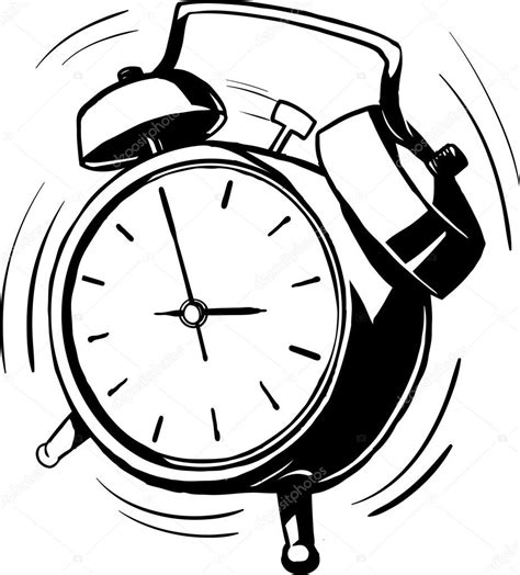 Alarm Vector bouncing alarm clock with a ringing bell stock vector