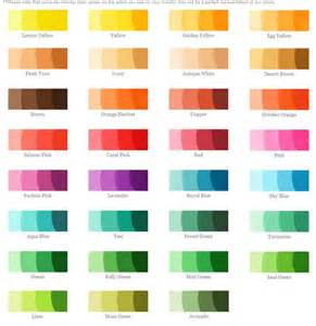 different colors 25 best ideas about food coloring chart on