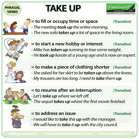 60 useful phrasal verbs with take with meaning and take up phrasal verb meanings and exles woodward