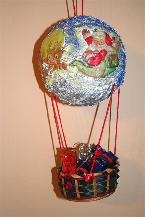 tutorial decoupage natalizio mongolfiera natalizia di babbo natale bricolageonline net