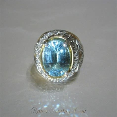 Cincin Batu Topaz Pancawarna cincin perak ring 11 5us batu mulia blue topaz 13 97 carat