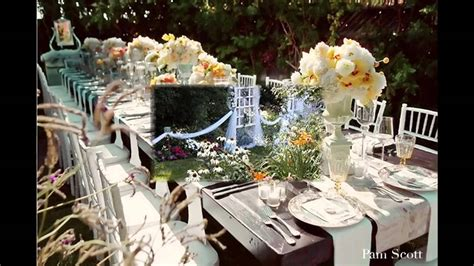 small garden wedding decor ideas