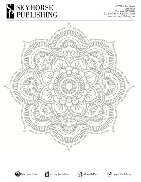 mandala coloring book tips relaxation tips free coloring printable pages