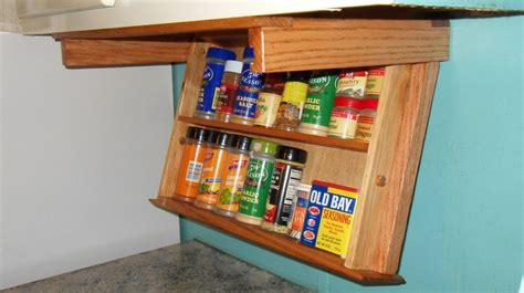 Under The Cabinet Spice Rack Under Cabinet Mount Spice Rack Drawer Easily Drops Down