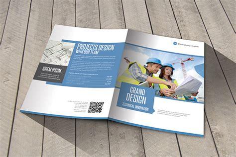 modern construction bifold brochure template on behance
