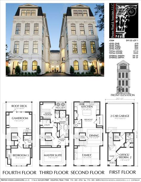 Town House Plan by Townhouse Plan D9132 Lots 1 4 Plans