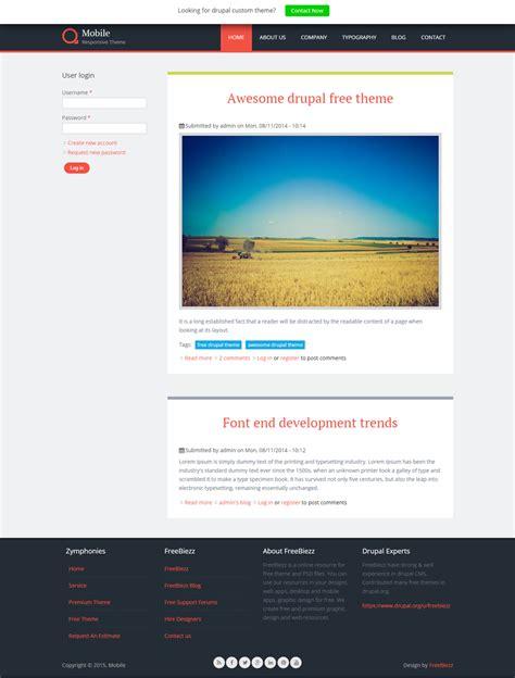 drupal themes responsive green mobile responsive theme freebiezz web design