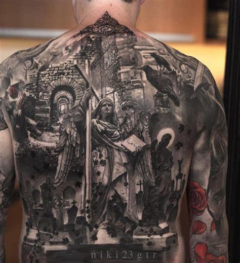 full back cross tattoos religious back http tattooideas247 religious