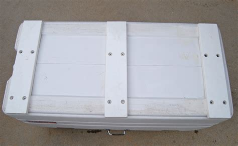 boat under seat cooler diy cooler slides for under leaning post the hull truth