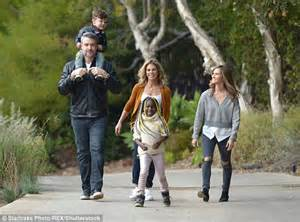 etienne fougeron jillian michaels with partner heidi during a playful day