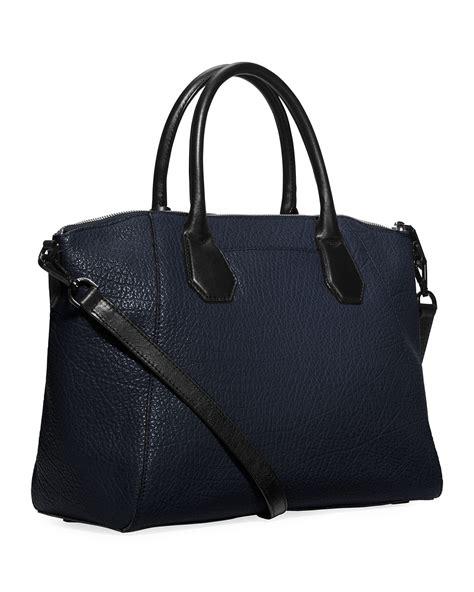 michael michael kors cbell large satchel bag in blue lyst