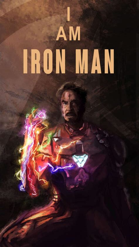 iron man sacrifice infinity stone snap iphone wallpaper
