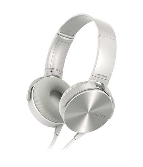 Murah Headphone Sony Mdr Xb 450 Xb450 Xb 450 Bass 1 buy sony mdr xb450 on ear bass xb headphones white at best price in india snapdeal