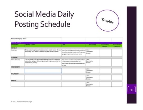 social media schedule template image collections