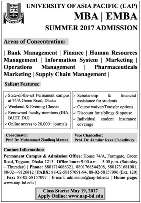 Of The Pacific Mba Application by Of Asia Pacific Admission Circular Alormela Org