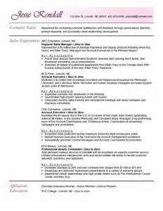 cosmetology resume sles sle resume for cosmetic retail sales resume ixiplay