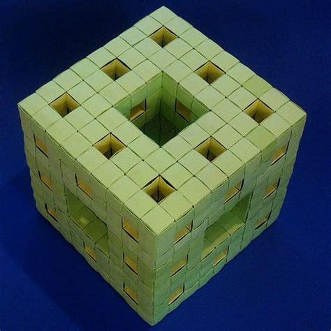 Menger Sponge Origami - menger sponge level 2 completed origami modular