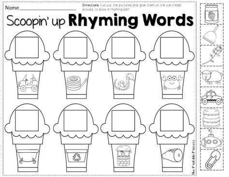 printable worksheets on rhyming words number names worksheets 187 rhyming practice free