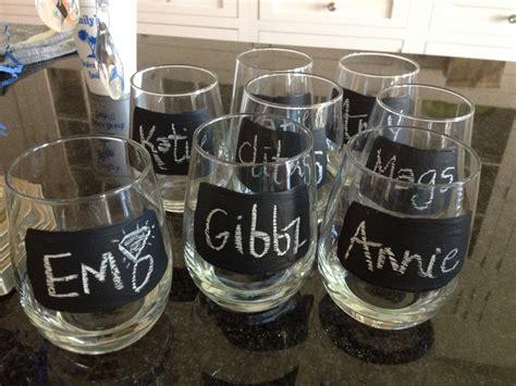 diy chalk paint wine glasses crisp diy chalkboard wine glasses