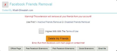 fb friend remover facebook friends removal chrome extension