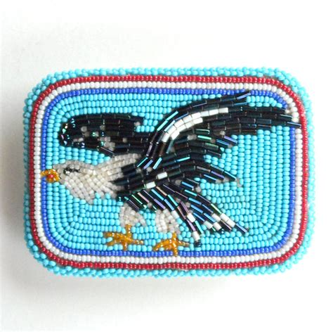 beaded belt buckles american eagle vintage seed bugle beaded belt buckle