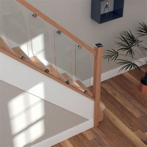 glass banisters uk glass staircase balustrade kit glass stair parts oak