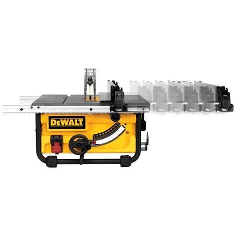dewalt 7480 table saw dewalt dwe7480xa 10 inch compact site table saw with