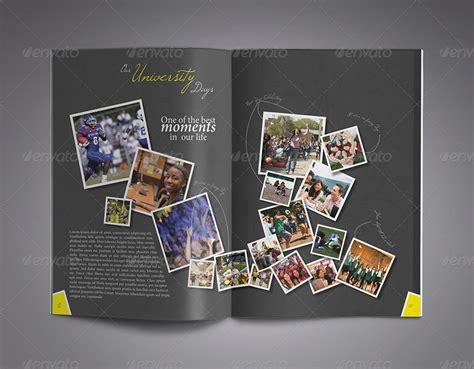 yearbook template indesign modern yearbook template by zheksha graphicriver