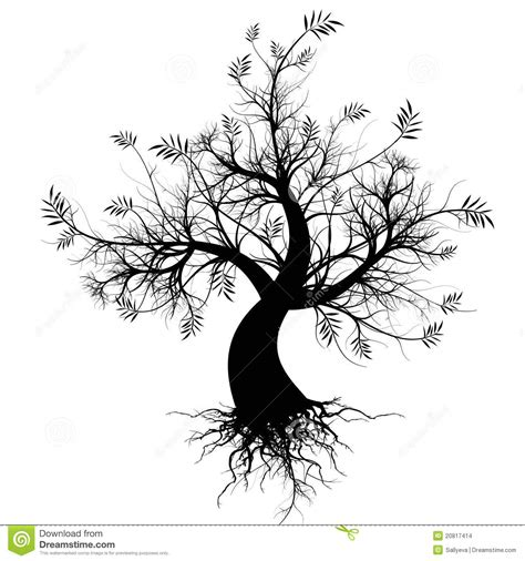 art tree silhouette stock illustration image of modern