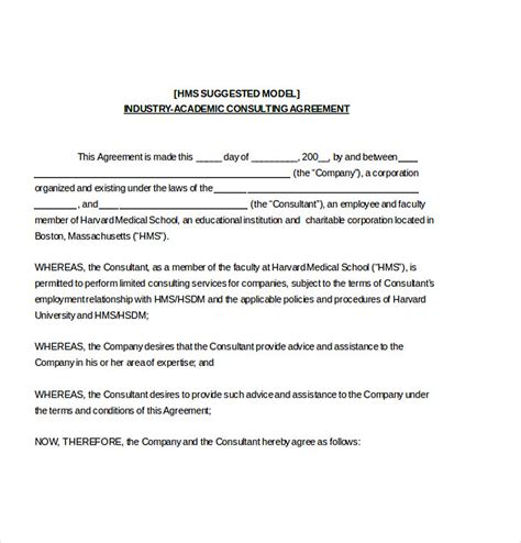 consultant agreement template 9 consulting agreement template