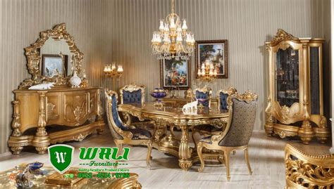 Kursi Meja Makan Ukir Mewah Jepara set meja makan mewah ukir mewah klasik jepara terbaru