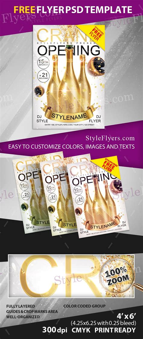 Grand Opening Free Psd Flyer Template Free Download 11669 Styleflyers Free Caign Flyer Template