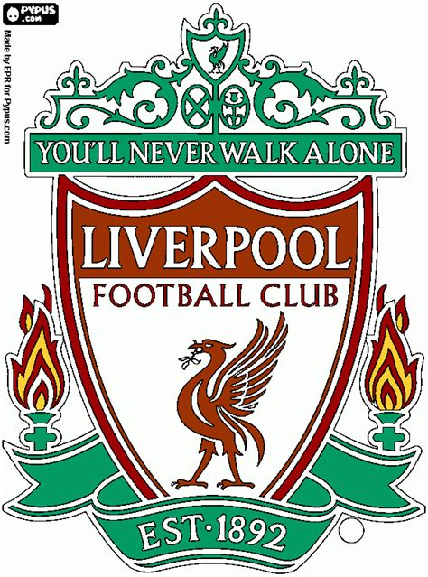 Free Coloring Pages Of Liverool Liver Badge Liverpool Colouring Pages