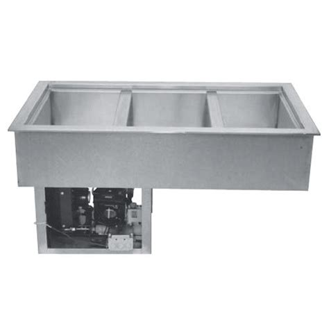 rcp 300 45 quot three pan drop in refrigerated cold food