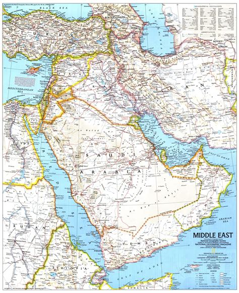 middle east map national geographic middle east map 1991 maps