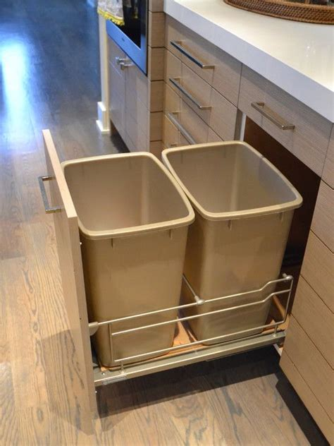designer kitchen trash cans top 25 ideas about trash bins on pinterest hidden trash