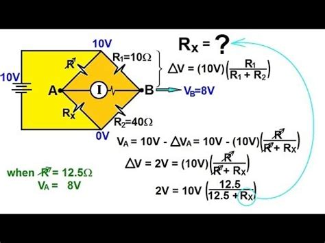 wheatstone bridge determine unknown resistance physics ohm s and resistor circuits 14 of 18 the wheatstone bridge 1