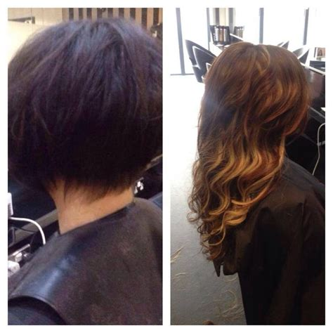 short hair with extensions styles before and after before and after hair extensions before after hair