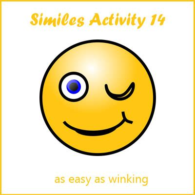 similes activity  list  similes examples