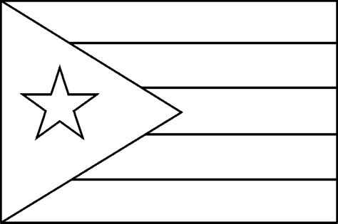 puerto rico flag coloring pages