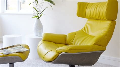 Yellow Leather Recliner by Yellow Leather Recliner El Dorado Furniture Andrea Yellow 31 Quot Power Motion Leather