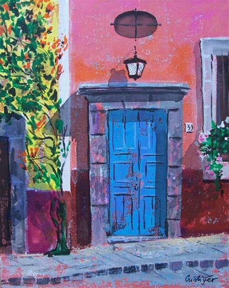 acrylic painting door cristi fer gallery and workshops san miguel de