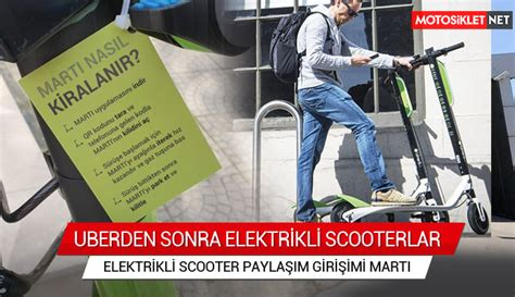 elektrikli scooter paylasim girisimi marti scooter kiralama