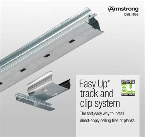 shop armstrong ceilings easy up 20 pack 96 in galvanized