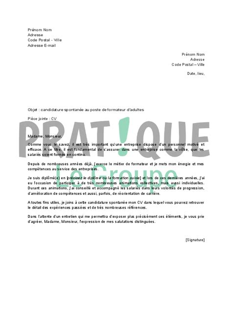 Lettre De Motivation Candidature Spontanée Supermarché demande d emploi spontan 233 banque employment application