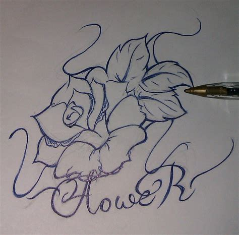 tattoo flower sketch flower tattoo sketch by case03 on deviantart