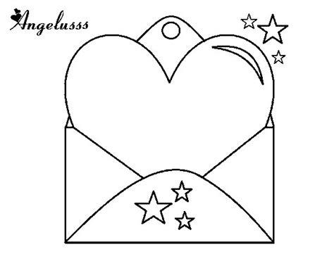 imagenes de corazones sin pintar dibujo de carta con coraz 243 n para colorear dibujos net