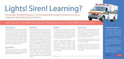 Cpp Mba Emt T Nremt P by Award Winning Ems Research Projects Fisdap
